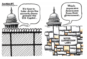 Cartoon of the Week about voter suppression.